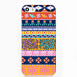 Orange National Wind Pattern ABS Hard Back Case for iPhone 5/5S/SE