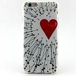 rosso modello di amore ispessimento TPU popolare caso marche telefono per iPhone 6 / 6S / 6plus / 6splus