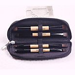 4 Makeup Brushes Set Synthetic Hair Professional / Travel / Portable Wood Face