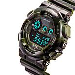 Montre de sport Hommes Etanche / Compteur de vitesse / Chronomètre Quartz Japonais Numérique bracelet