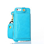 PU ceinture en cuir accrocher capot de protection cellulaire corde téléphone étui pour iphone 5 / 5s / se (couleurs assorties)