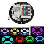 ZDM 5M Waterproof 300X5050 SMD RGB LED Strip Light  IP65 with 24Key Remote Controller (DC12V)