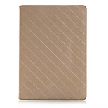 einzigartiges Design Luxus Gittermuster PU-Leder Fall Flip-Cover für Schlitz Apple iPad Luft 2 Tablette mit Karte