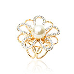 HUALUO®European Fashion scarf buckle Korean high-grade pearl flower brooch Ms. hollow buckle shawl accessories