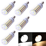 YouOKLight® 6PCS E14 5W 99*SMD5730  350LM Warm White Cold White  CRI>80 LED Corn Bulbs Lamp (110-120V/220V-240V)