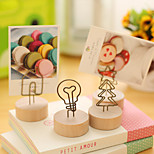 1PC Sen Is A Pastoral Originality Logs, Wrought Iron Memo Clip Flowerpot Memo Clip (Style random)