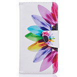 Colorful Petals Pattern Card Phone Cover For LG K7/K10