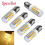 Jiawen 5pcs/lot E14 3W 51-2835SMD 240lm Cool White/Warm white Light Corn Lamp Bulb(AC 220V)