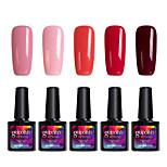 Modelones 5Pcs Gelpolish UV Gel Nail Polish Soak Off Gel Manicure Varnish Beauty Makeup C101