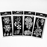 Inkjet PVC Henna Tattoo Sticker Printing Airbrush Tattoo Stencils