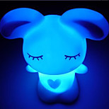 Creative Color-Changing Acrylic Love Rabbit Colorful LED  Night Light  and Lovely Home Decoration