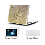 Wood Grain Design Matte Hard Full Body Case with Keyboard Cover and Screen Protector for Macbook  Pro 13