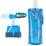 A Portable Folding Water Bottle Outdoor Plastic Water Bottle 480ml Random Color