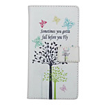 Butterfly Tree Pattern PU Leather Full Body Cover with Stand for Huawei Ascend P9