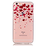 Transparent Colored Heart-Shaped Petals Pattern TPU Soft Case Phone Case For iPhone 6/6 Plus/6S/6S Plus