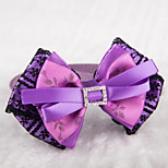 Gatos / Perros Collar Ajustable/Retractable / Lindo y mimoso / Lazo Morado Textil