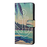 Anchor and Sea Magnetic PU Leather wallet Flip Stand Case cover for LG K5 X220