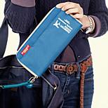 Travel WalletForTravel Storage Fabric Black / Blue / Green / Purple / Pink / Yellow 23*12*1.5