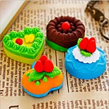 Sweet Cake Design Eraser Rubber Eraser Primary School Student Prizes Gift Stationery,Set of 4