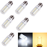 YouOKLight® 6PCS E14/E27 4W  56*SMD5730  Warm White Cold White CRI>80 LED Corn Bulbs Lamp(AC110V-120V/220V-240V)