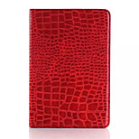 delgada funda de cuero de cocodrilo de alta calidad de la moda para el ipad 3/2/1 Mini cubierta elegante con el caso del patrón del