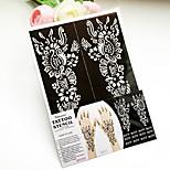 India PVC Henna Tattoo Sticker Printing Airbrush Tattoo Stencils