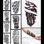 8PCS Tatoo Fake Machine Leg Dragon  Women Men Body Sleeve Back Art Temporary Waterproof Tattoo Sticker