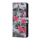 Red Flower Magnetic PU Leather wallet Flip Stand Case cover for Wiko Lenny 3
