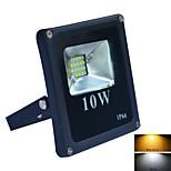 Jiawen 10W 900lm 6500K /3200K  IP66 20-2835SMD Cool White /warm white LED Floodlight - Black (AC 220V)