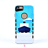 2 in 1 siliconen reliëf cartoon tij ingekleurde tekening of patroon voor iphone6 ​​/ 6s / 6plus / 6s plus Smart Cover