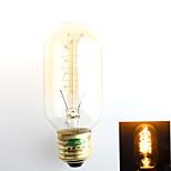 1 pièce Zweihnder E26/E27 40W 1 COB 500 lm Blanc Chaud G45 edison Vintage Ampoules à Filament LED AC 100-240 V