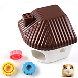 Plastic pet hamster residents bedroom small animals hamster sand bath room hamster cage