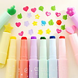 Novel Pen Point Highlighter Pen Set(6 PCS/Set)