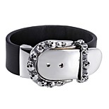 Skull Head Engraved Clasp Men's Wide 316L Stainless Steel Leather Bracelets