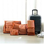 Packing OrganizerForTravel Storage / Luggage Accessory Fabric Green / Orange / Rose 49*42,37*42,41*23,21*18
