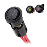 Jtron DIY Fog Lamp ON-OFF Rocker Switch w/ Mounting Base + LED Indicators - (Black & Red)