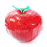 3D Crystal Apple Diy Puzzle Blocks Children Educational Toys Creative Small Ornament Toys Without Light