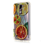 Luxury Brushed TPU Orange Pattern Phone Shell Drop Resistance for LG K7