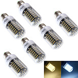 YouOKLight® 6PCS E27 6W 138*SMD4014 400LM Warm White/Cool White CRI>80 LED Corn Bulbs Lamp(AC110-120V/220-240V)