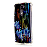 Luxury Brushed TPU Blue Flowers Pattern Phone Shell Drop Resistance for LG K7