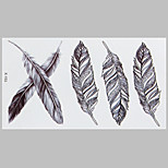 Fashion Tattoo Feather Waterproof Tattoo Stickers