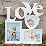 Hot White Base Photo Collage Picture Holder Display Frame Art Decor Home Wall Hanging Family Love Show Photo Frame Gift