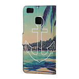 Anchor and Sea Magnetic PU Leather wallet Flip Stand Case cover for Huawei Ascend P9 Lite