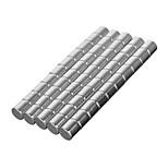 DIY 8*8mm Cylindrical Neodymium NdFeB Magnet(50PCS) Silver