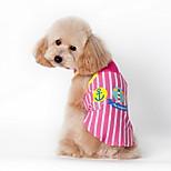 Dog Shirt / T-Shirt Blue / Pink Summer Cartoon / Plaid/Check Striped-Lovoyager