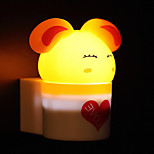 Creative Warm White Rabbit Light Sensor Relating to Baby Sleep Night Light(Assorted Color)
