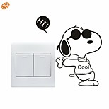 AYA™ DIY Wall Stickers Wall Decals, Lovely Funny Snoopy Pattern Light Switch Stickers