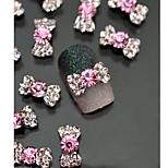 10pcs Nail Art Tips Stickers Deco Bow Knot Alloy Jewelry Multicolor Glitter Rhinestone