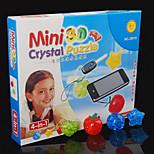 Four Unity 3D Crystal Blocks Puzzle Diy Creative Educational Toys Small Children Toys