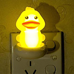 Creative Warm White Yellow Duck Relating to Baby Sleep Night Light